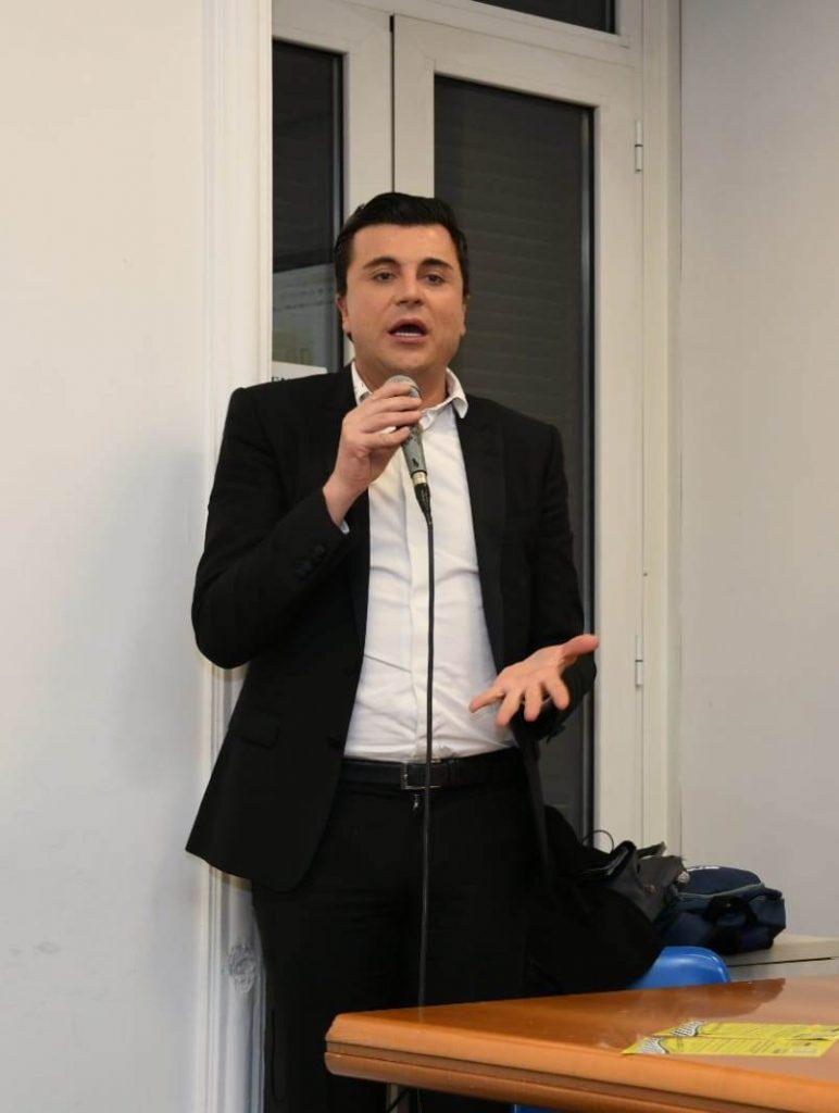 Fabio Palazzi durante la Conferenza Stampa di Presentazione LiberTaxi