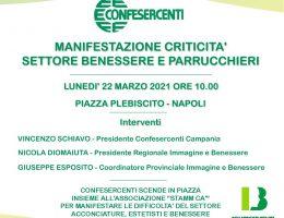 Locandina manifestazione Confesercenti 22 Marzo 2021